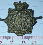 3199 Australian Boer war Qv collar badge Victoria. Click for more information...